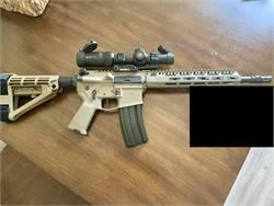 "12.5"" FDE Custom AR 15 1-6 Vortex"