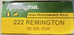 Remington 222 50 Grain Sealed Box of Twenty