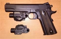 Tactical Pistol Rifle Shotgun LED Light + Green Laser